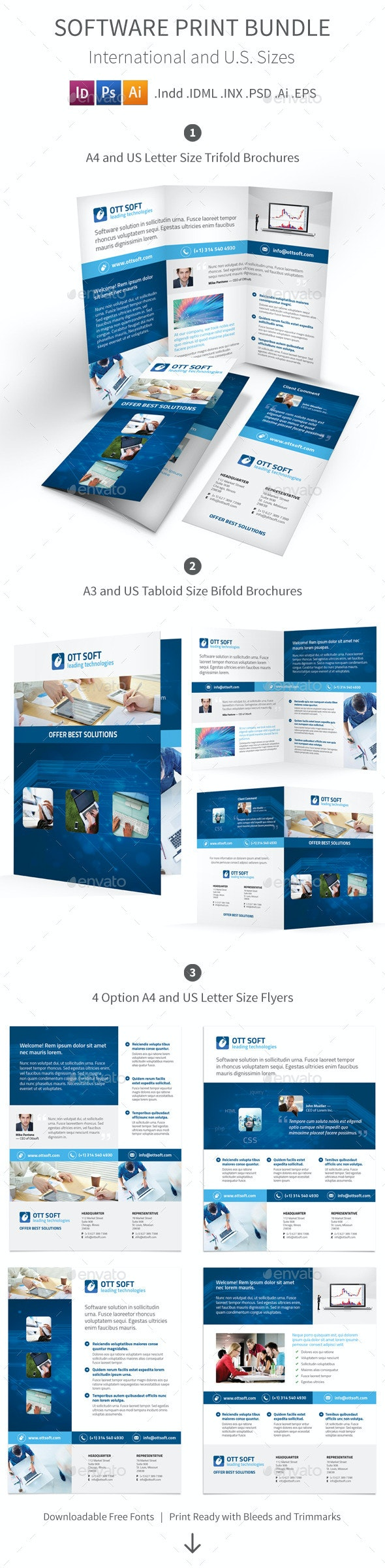 IT and Software Print Bundle - Corporate Brochures