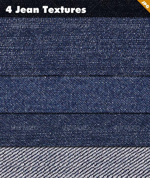4 Jean Textures - Fabric Textures