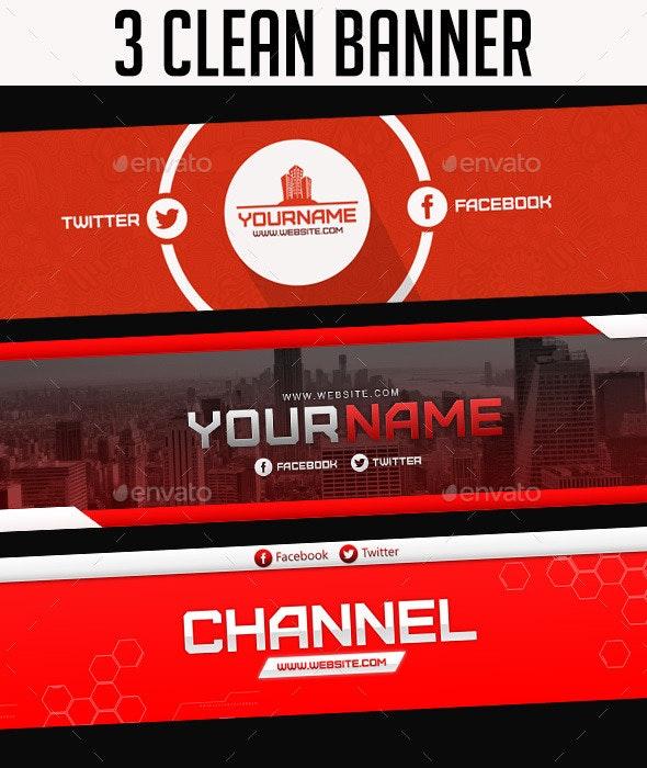 3 Clean Banner - YouTube Social Media
