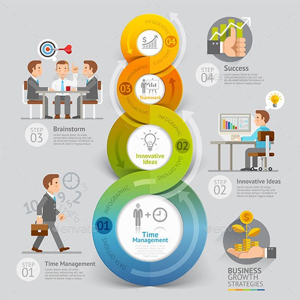 Business Growth Strategies Infographics Concept.