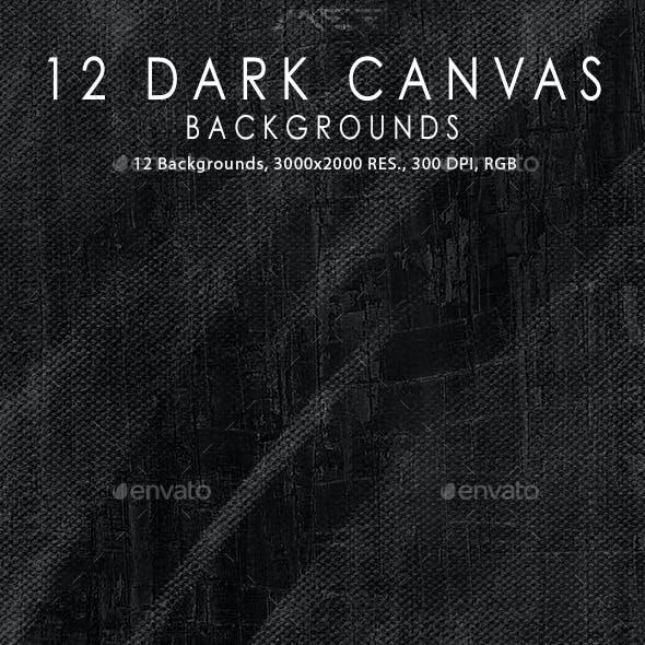 12 Dark Canvas Backgrounds