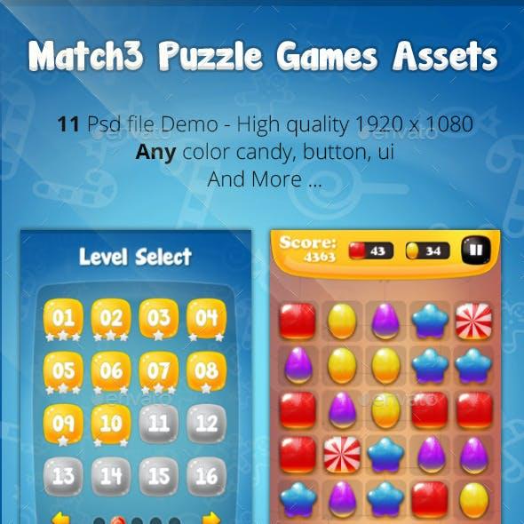 Match3 Puzzle Games Assets V1