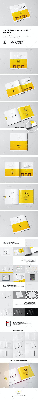 Square Brochure / Catalog / Booklet Mock-up - Brochures Print