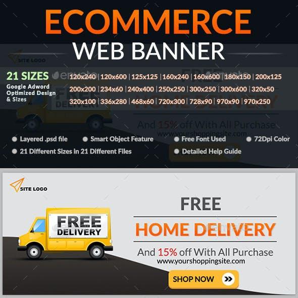 Ecommerce Web Banner