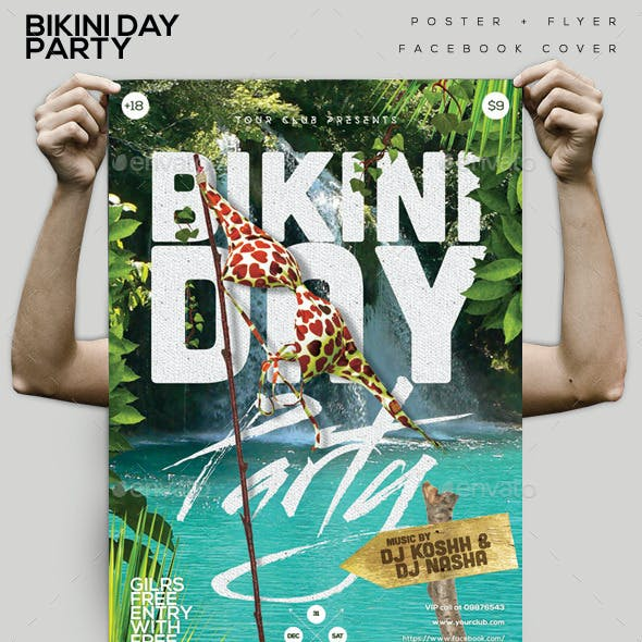 Bikini Day Party Flyer/ Poster/ FB Cover