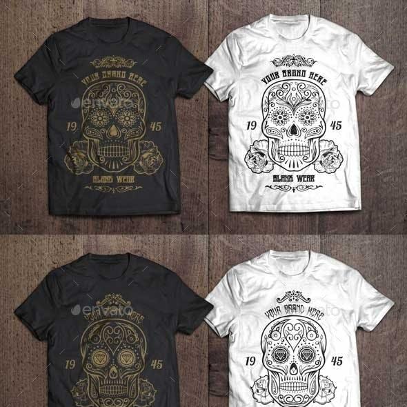 3 T-Shirt Illustration - Sugar Skull Vol.1