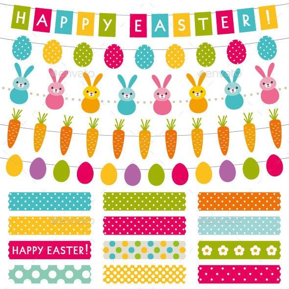 Easter Design Elements Set - Miscellaneous Seasons/Holidays