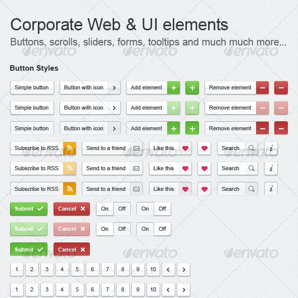 Corporate Web & UI Elements