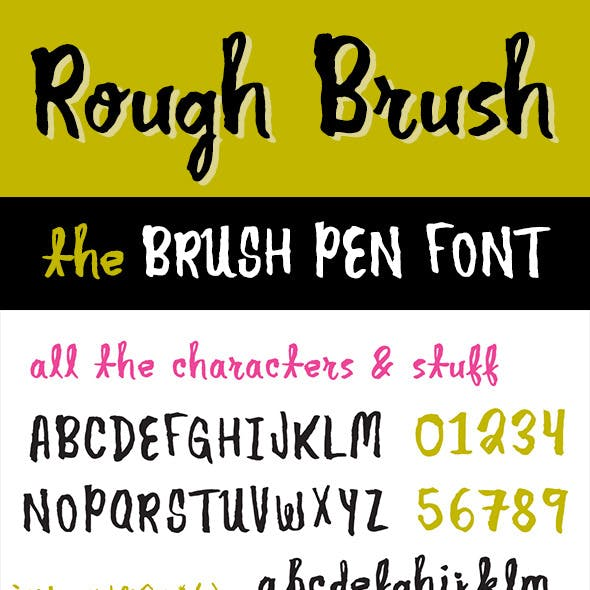 Rough Brush Font
