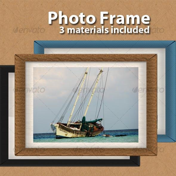 Realistic photo frame