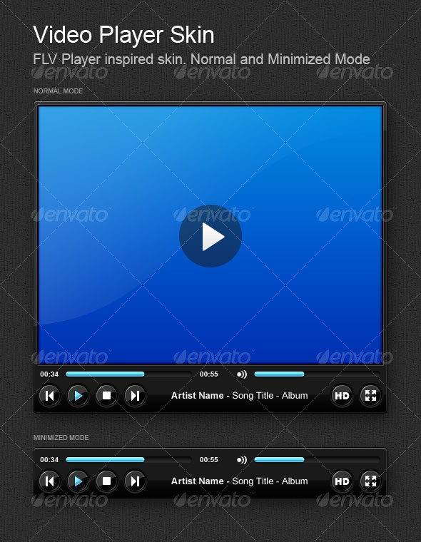 Video Player Skin - Miscellaneous Web Elements