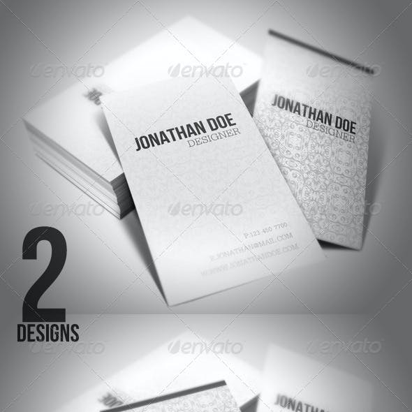 Minimal Art Business Cards