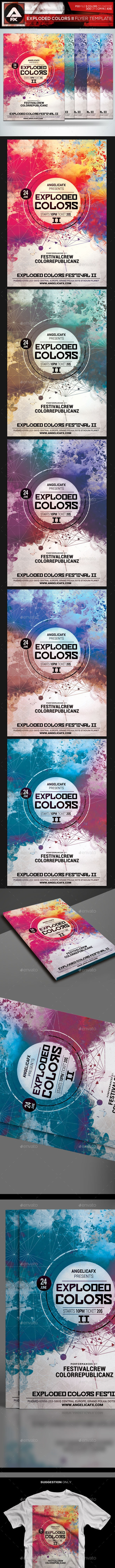 Exploded Colors II Flyer Template - Flyers Print Templates