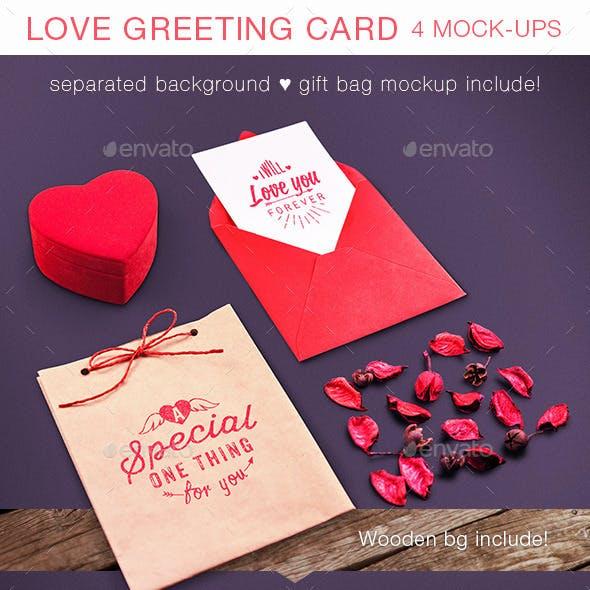 Love Greeting Card Mock-up