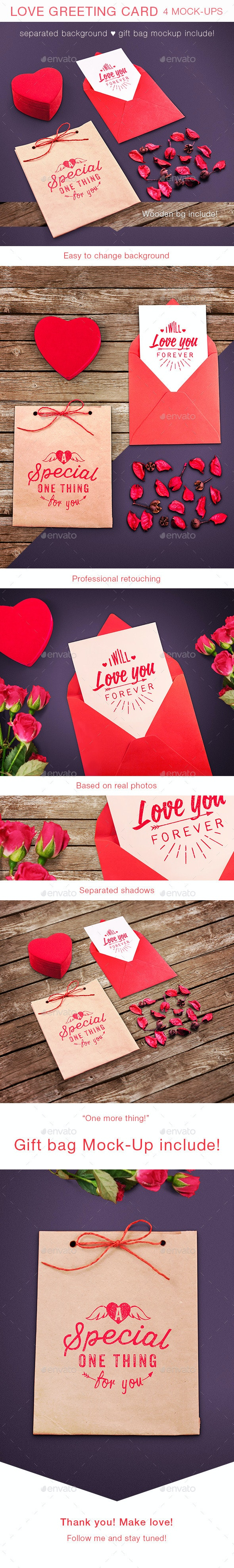 Love Greeting Card Mock-up - Miscellaneous Print