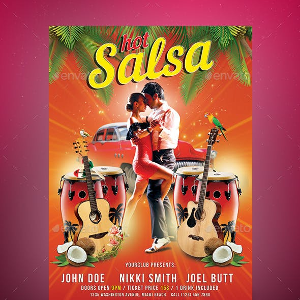Hot Salsa Party Flyer