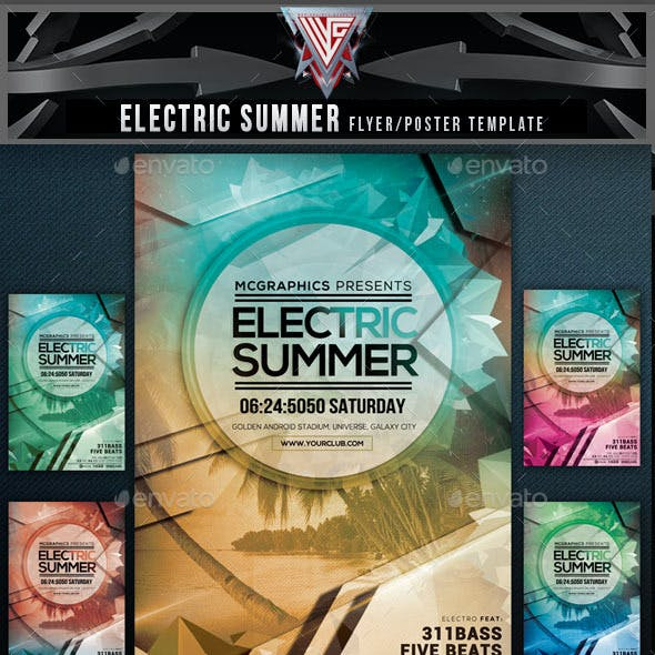 Electric Summer Flyer Template