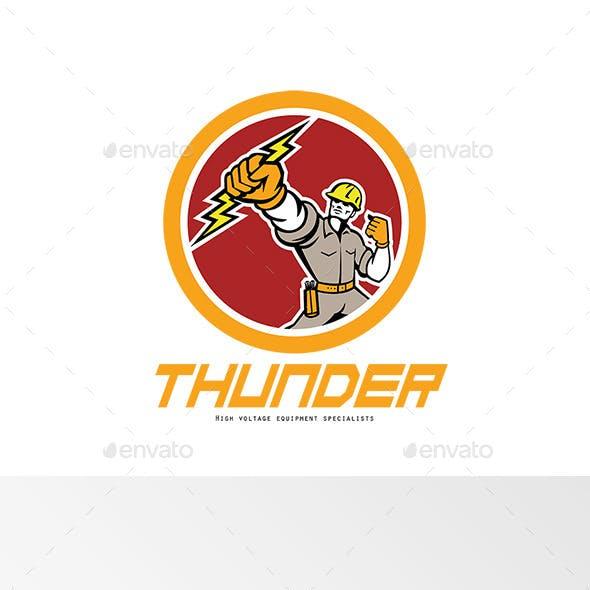 Thunder High Voltage Electrical Logo