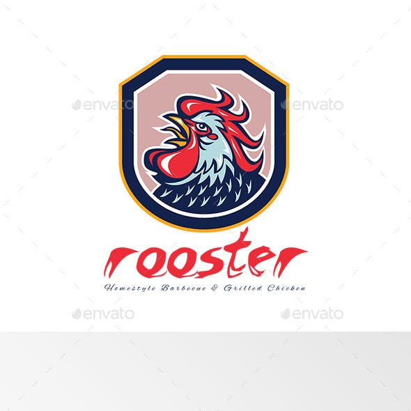 Rooster Chicken Grill Logo