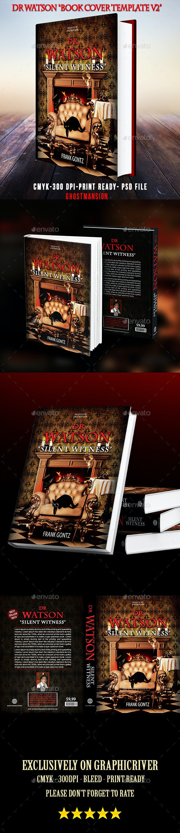 Book Cover Template PSD V2 - Miscellaneous Events