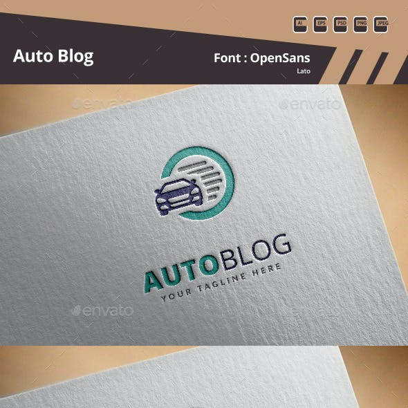 Auto Blog Logo Template