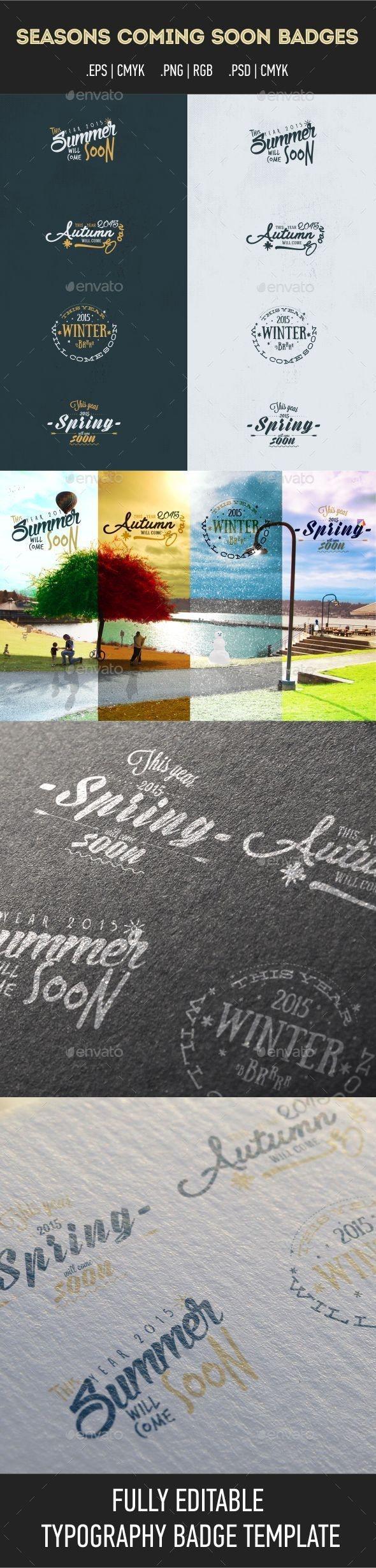 Seasons Coming Soon Badges - Badges & Stickers Web Elements