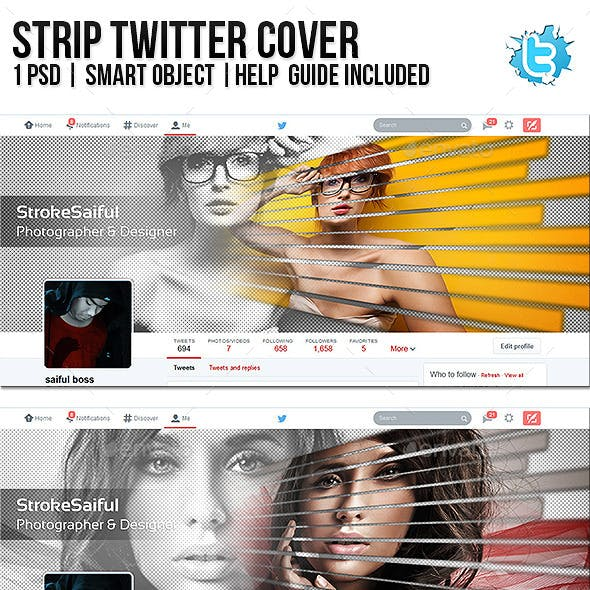 Strip Twitter Cover