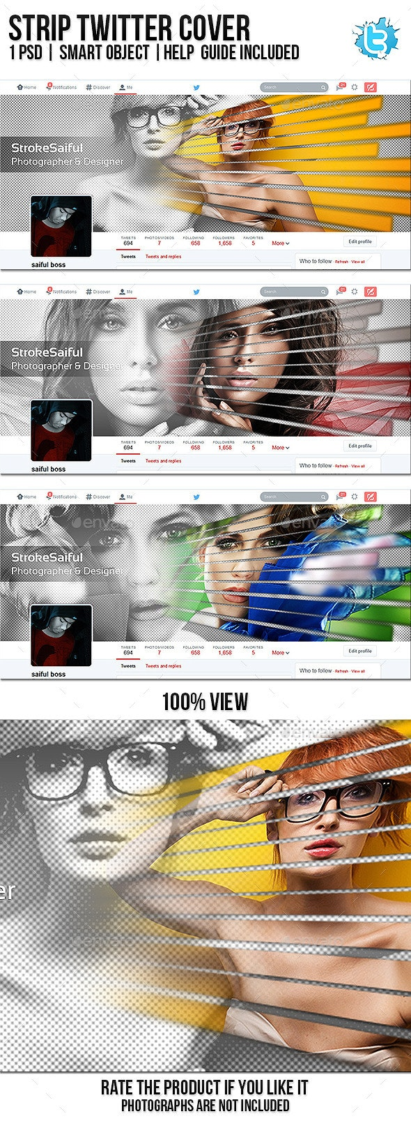 Strip Twitter Cover - Twitter Social Media