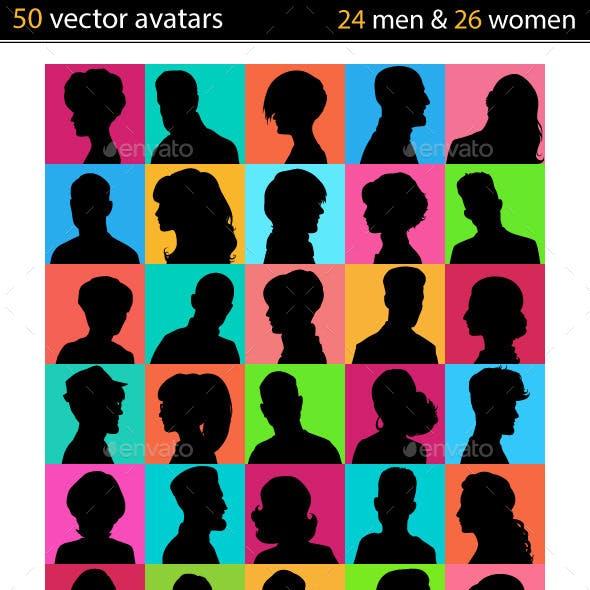Set of 50 Avatars People