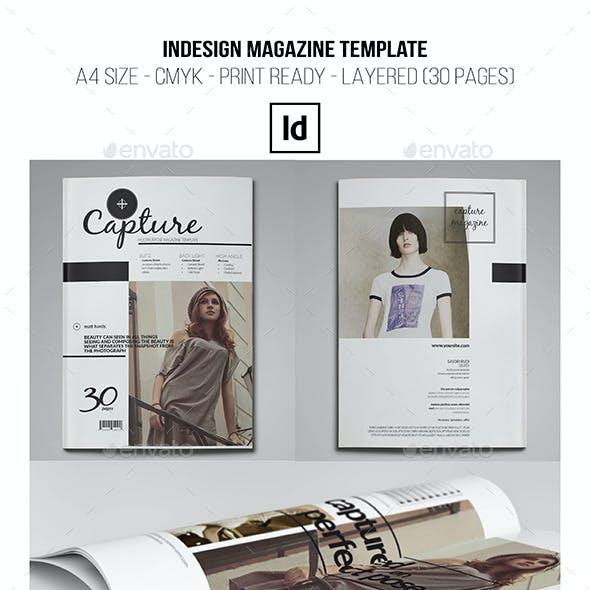 InDesign Magazine Template 30 Pages