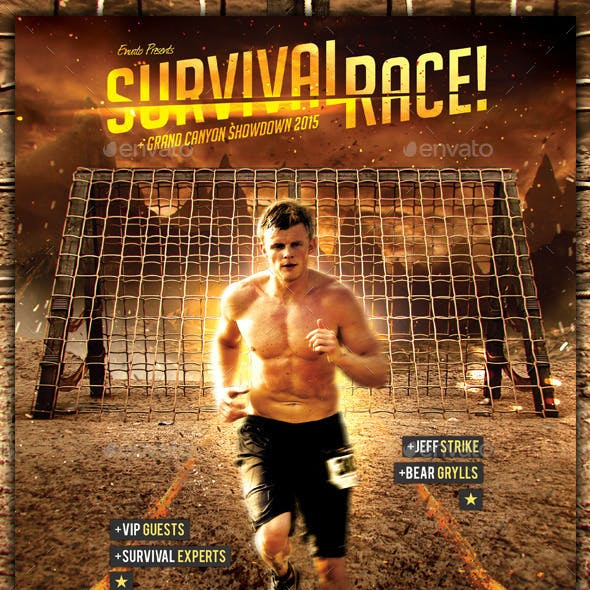 Survival Races - Adventure Flyer Template