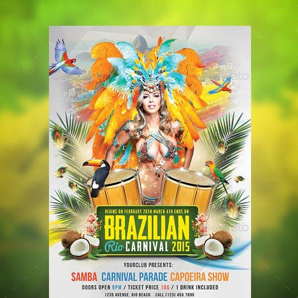 Brazilian Rio Carnival Flyer