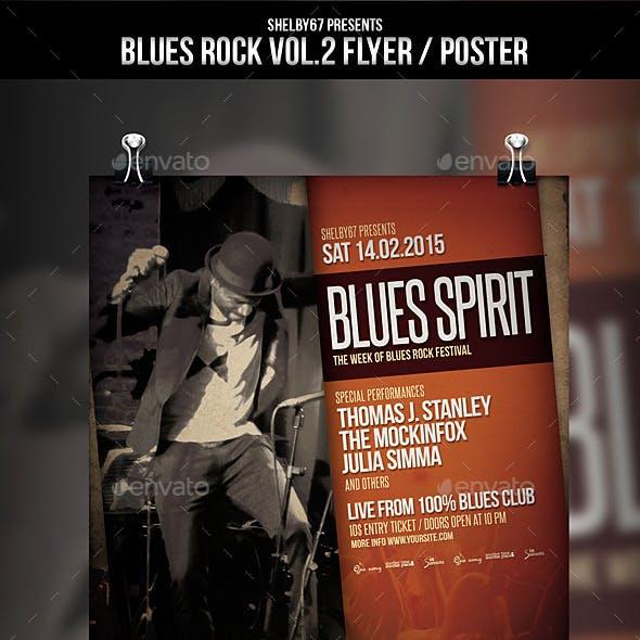 Blues Rock Flyer / Poster Vol.2