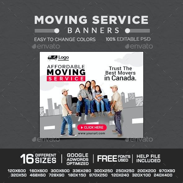 Moving Service Banners