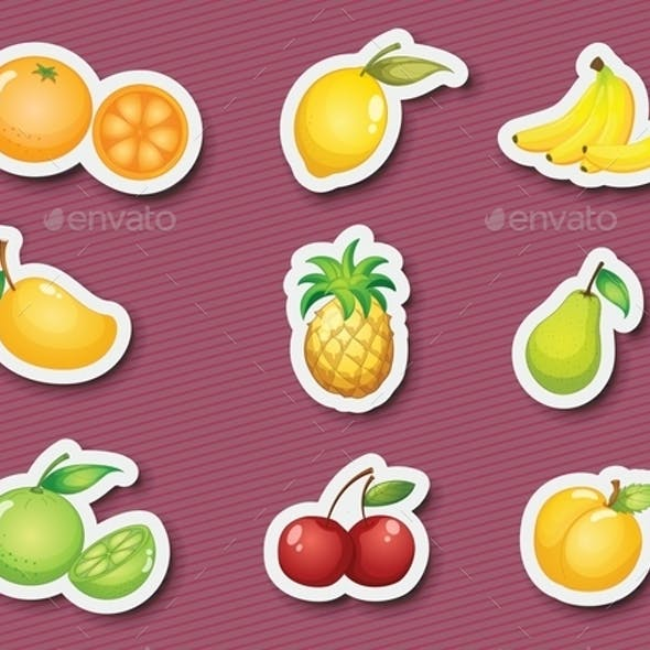 Sticker Series of Fruits