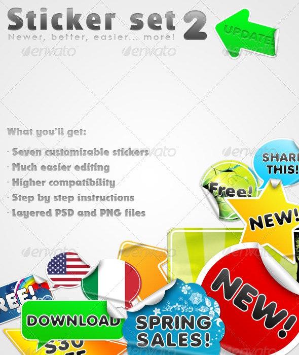 Sticker set - Web Elements