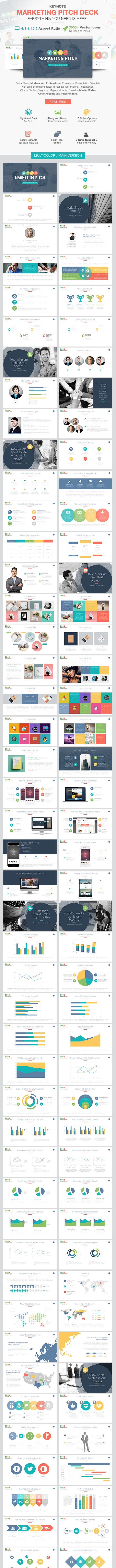 Marketing Slide Pitch Deck Keynote Template - Keynote Templates Presentation Templates