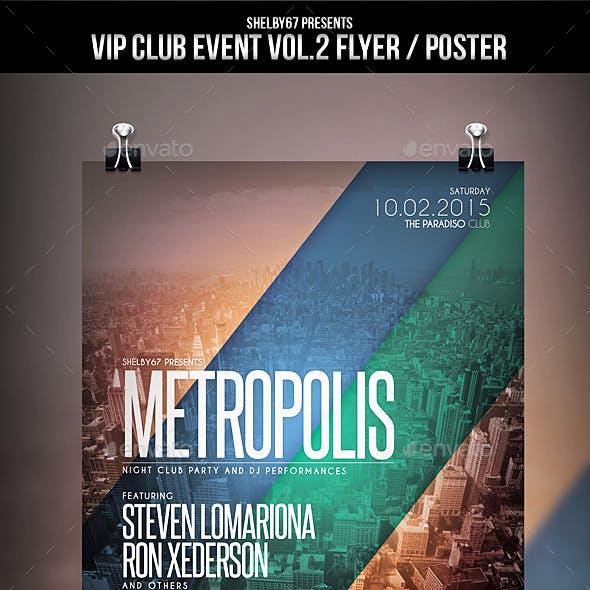 VIP Club Event Flyer / Poster Vol.2