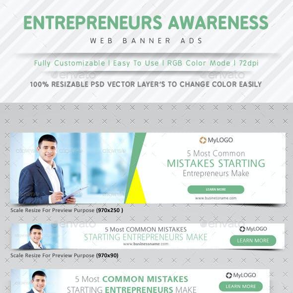 Entrepreneurs Awareness Web Banner Ads