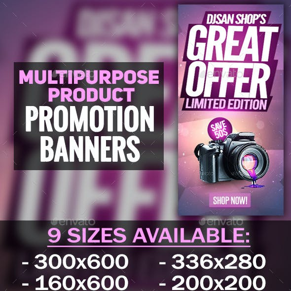 Multipurpose Product Promotion Banner