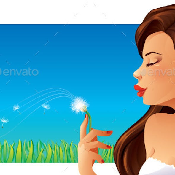 Woman and Dandelion