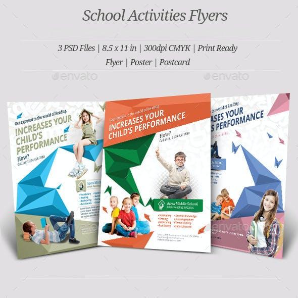 School Activities Flyer Templates
