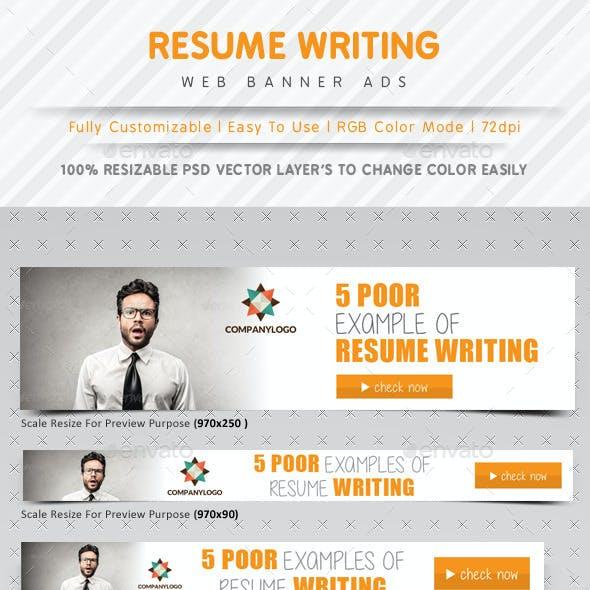 Resume Writing Web Banner Ads