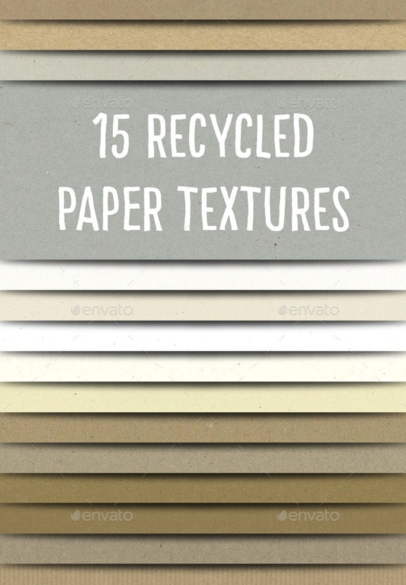 Recycled Paper Textures Pack - Paper Textures