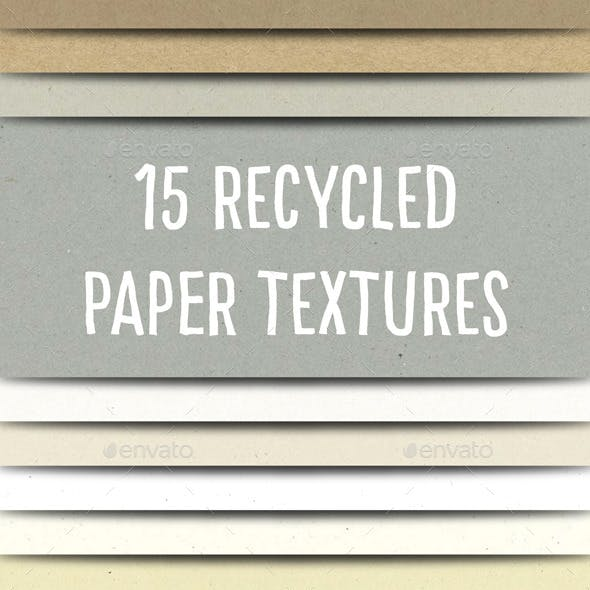 Recycled Paper Textures Pack