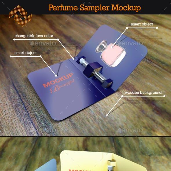 Perfume Sampler Mockup