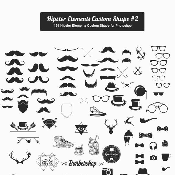 Hipster Elements Custom Shape #2