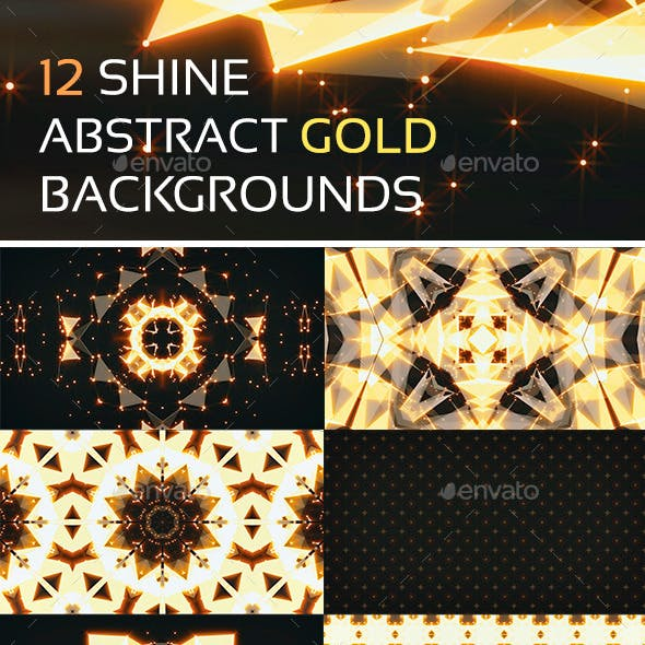 12 Shine Abstract Gold Backgrounds
