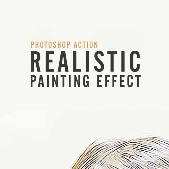 Realistic Painting -  Photoshop Action