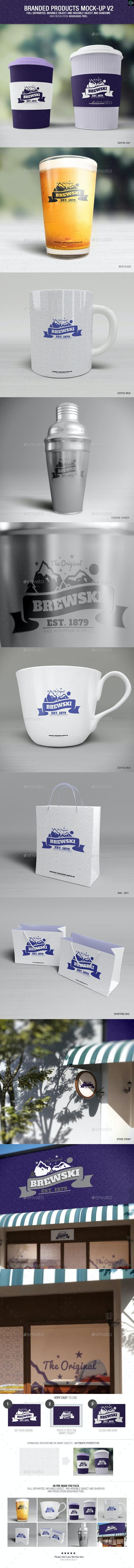 Branded Products Mock-up V2 - Logo Product Mock-Ups